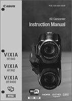 Canon Vixia Hf R40, R42, R400 Camcorder User Instruction Guide Manual