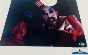 Sid-Haig-signed-Captain-Spaulding-11X14-METALLIC-photo-BAS-COA-H32850