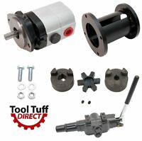 22 Gpm 2-stage Hydraulic Log Splitter Pump, Mount Coupler & A7 Detent Valve Kit