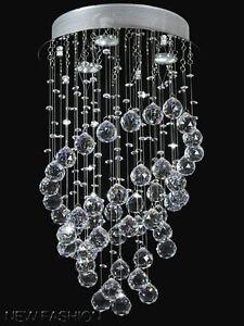 moderne ring f rmigkeit kristall deckenleuchte h ngende lampe kronleuchter ebay. Black Bedroom Furniture Sets. Home Design Ideas