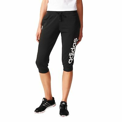 FäHig Adidas Performance Damen Fitness Caprihose Essentials Linear 3/4 Pant Schwarz