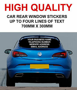 Personalised Car Rear Window Business Stickers Van Vinyl Sign - Personalised car window stickers