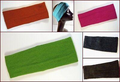 Intelligent New! Modisch Warm Strick Stirnband Aus Alpakawolle Unifarben Unisex Charito Arte