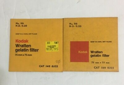 Kodak  Wratten 96 ND 0.20 Filter 3x3 inch NEW 75mm Same Day Ship! SEALED!!
