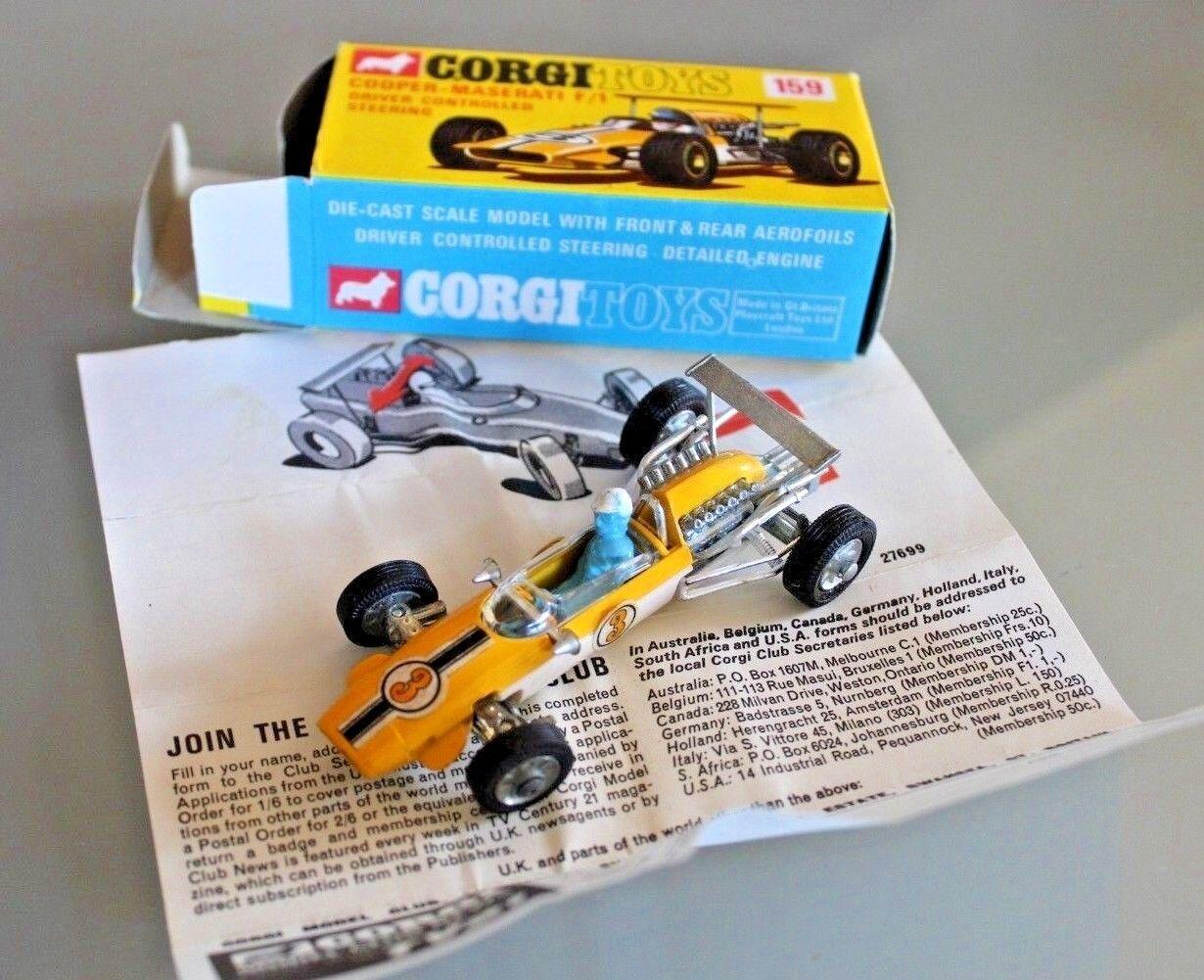 Corgi Toys 1 43 Cooper Maserati F1 Nuevo Ref 159 Años 1960