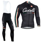 New Men Cycling Long Sleeve Tops Bicycle Jersey Bib Tights Suits Racing Costume
