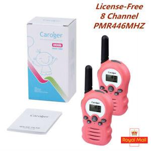 2PCS-8CH-3-3KM-Kids-Twins-Walkie-Talkie-Children-Intercom-Interphone-Pink-Gift