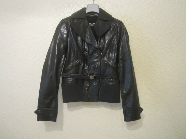 f1e6552e7 D&g Dolce&Gabbana Women's Double Breasted Leather Jacket