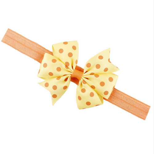 Hot Baby Kids Girl Newborn Bowknot Dot Hair Band Headband Decor Accessory P0CA
