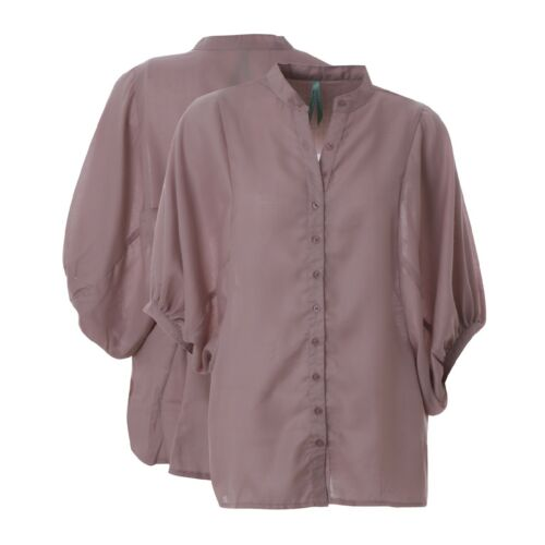 Ladies Top Blouse  Batwing Womens New Tunic Shirt Loose Fit UK Baggy Chiffon