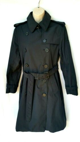 Norma Kamali Women's Size Medium Trench Coat Black