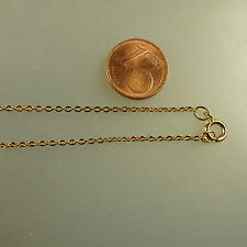 Feine Flachanker Kette Gold Double 1,2 mm 38 cm (41393)