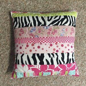 PINE-CONE-HILL-ZEBRA-Patchwork-Floral-16-034-SQ-43cm-Throw-Pillow