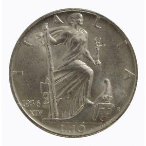 1936-Royaume-D-039-Italie-Monnaie-Livres-10-Empire-Vitt-Em-III-Argent-MF60789