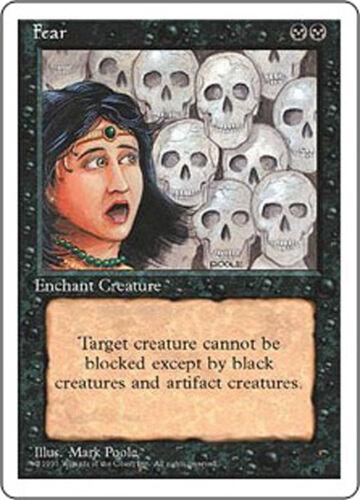 - Fear Fourth Edition Magic the Gathering MTG 1995
