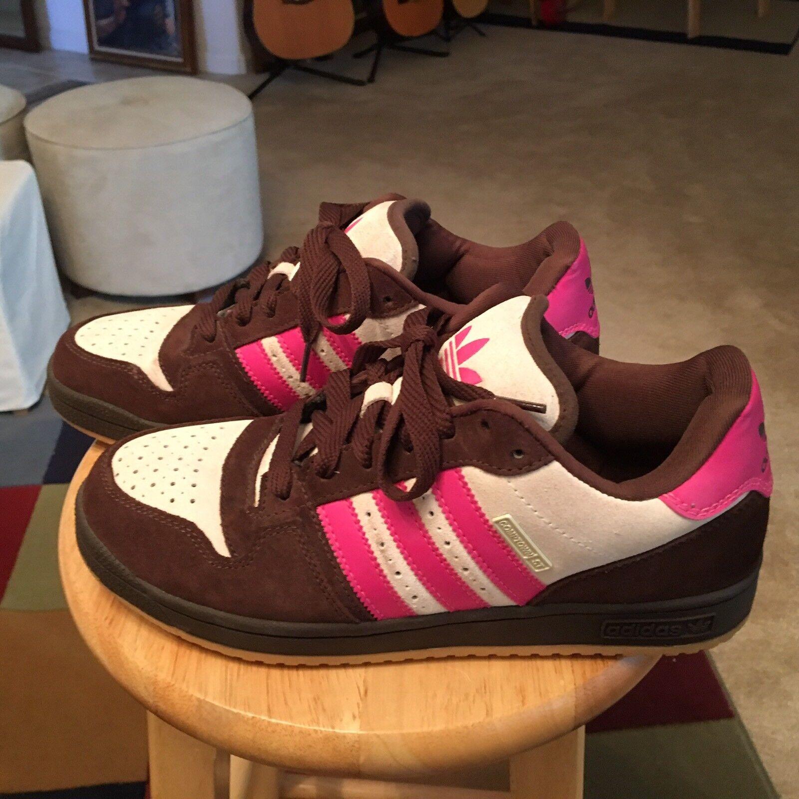 Adidas Compton St Brown Cream Men's US11 Suede Gum Sole Ahtletic Sneakers shoes