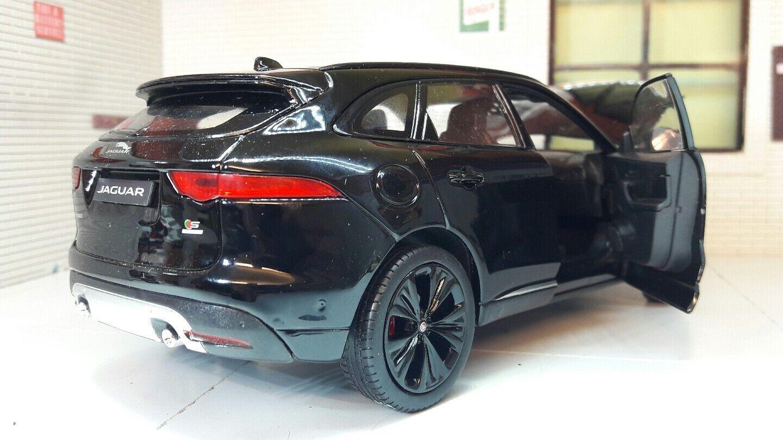 Jaguar F Pace 4x4 4x4 4x4 V6 Negro Welly interior detallado modelo diecast escala 1 24 2016 582ae1