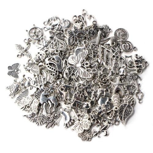 Wholesale 100pcs Bulk Lots Tibetan Silver Mix Charm Pendants Jewelry DIY