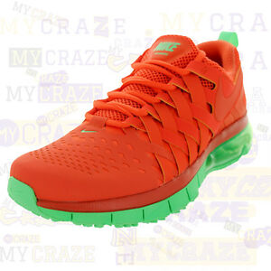 NIKE FINGERTRAP AIR MAX NRG TURF ORANGE LIGHT LUCID GREEN MENS SNEAKERS