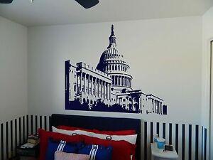 Details About Capitol Building Washington Dc Senate Vinyl Wall Sticker Decal 72 H X 100 W