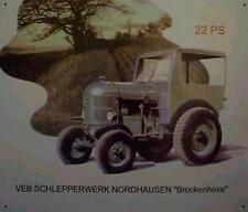Älteres Blechschild Brockenhexe Traktor Reklame Werbung gebraucht used Nur 3x da