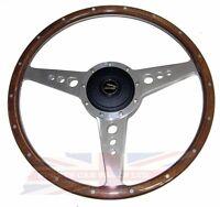 15 Wood Steering Wheel W/ Adaptor Hub Jaguar Xj6 1974-1987 Xjs Moto-lita