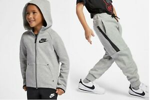 Kids Nike Tech Fleece Tracksuit Set Size 6 7 Years 116 122cm Dark Grey Heather Ebay