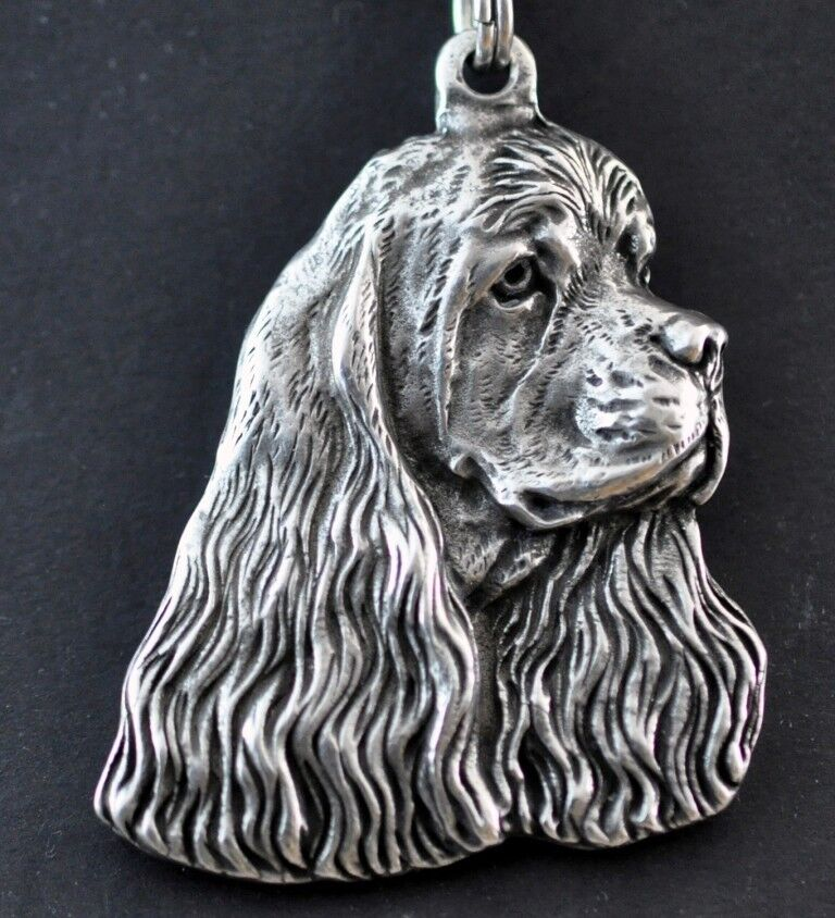 Cocker americano - collana con un cane su su su una corda d'argentoo Art Dog IT 8a4464