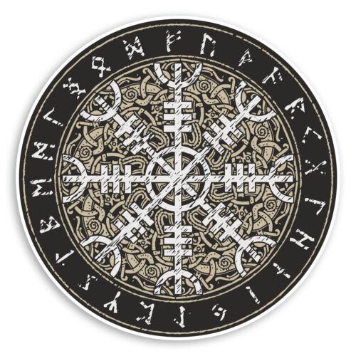 2 X 10cm patrón islandés escandinavo Pegatinas De Vinilo-Tribal Adhesivo #34752