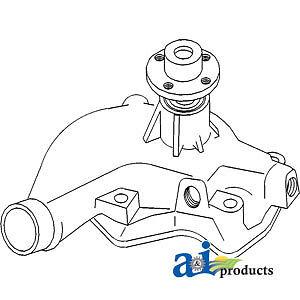 john deere parts water pump ar45332 4020 diesel eng less air John Deere 1010 Wiring Schematic image is loading john deere parts water pump ar45332 4020 diesel