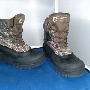 Ozark-Trail-Mens-Snow-Boots-Sz-7-Camo-Thinsulate-Waterproof-Winter-Mud-Lace-Up
