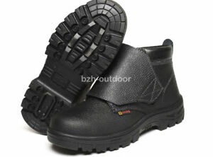 bd1fecc0a95 Details about Men's Leather Chukka Welder Shoes Steel Toe Welding Boots  Work Safety Shoes