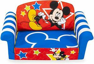 MICKEY MOUSE Plush KIDS CHAIR Fold Out Padded Sofa Bed ...