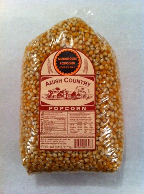 Amish Country Popcorn Mushroom 6 Pound Bag (96oz) Non-Gmo