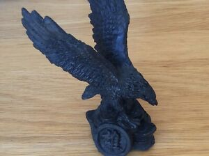 Shungite Eagle on Coins Carved Figurine. Protects from EMf & Geopathic Stress