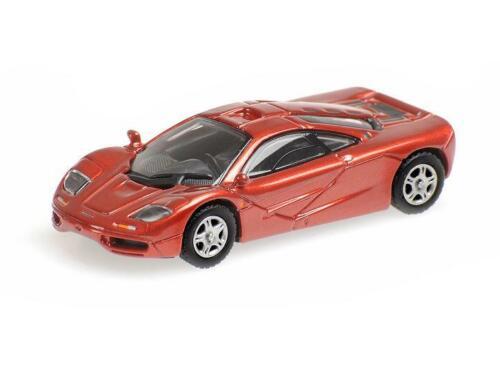 RED METALLIC 870133820 Minichamps 1:87 New! MCLAREN F1 ROADCAR