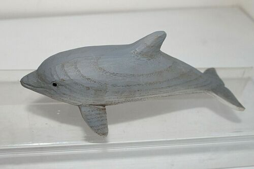 Grey Dolphin Ornament Nautical Coastal Home Decor  Medium