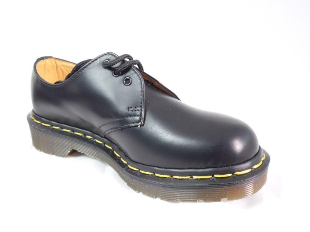 DR OXFORDS MARTENS SMOOTH BLACK LEATHER CLASSIC 3 HOLE GIBSON OXFORDS DR 1461 MIE NOS a4276d