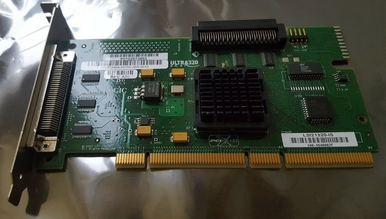 LSI 21320-IS ULTRA 320 TH-OT2484-55755-3BR-0012 Single Channel Host Adapter Cont