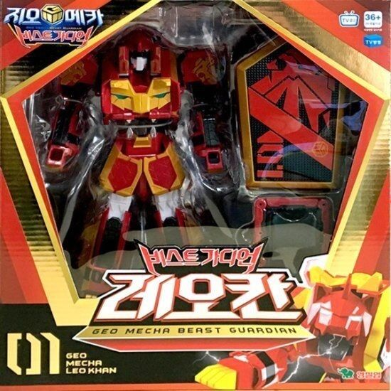 Youngtoys Geo Mecha Beast Guardian Leo Khan Transformer Robot