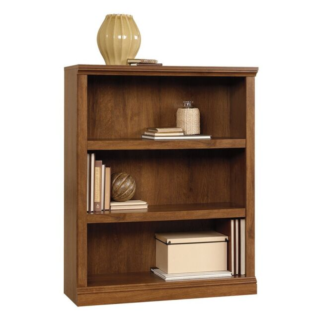 Surprising Sauder 410372 Select 3 Shelf Bookcase Oiled Oak Finish With 2 Adjustable Shelves Download Free Architecture Designs Rallybritishbridgeorg