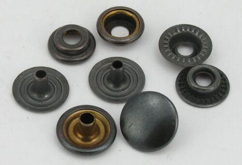 14mm anthrazit Ringfeder 8mm 07.11 rostfrei 10 Druckknöpfe