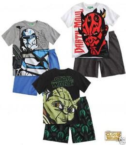 dc3b472fb0 Das Bild wird geladen Star-Wars-The-Clone-Wars-Shorty-Pyjama-Schlafanzug-