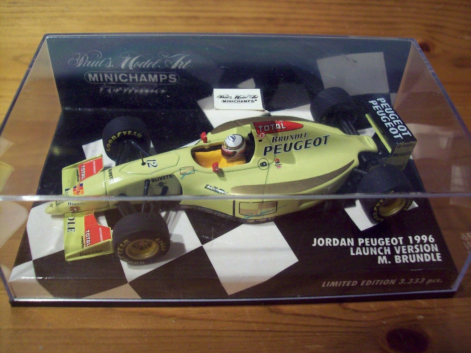 1 43 JORDAN 1996 LAUNCH VERSION PEUGEOT  MARTIN BRUNDLE