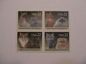 United-States-Scott-2372-75-22-Cats-Block-of-4-MINT