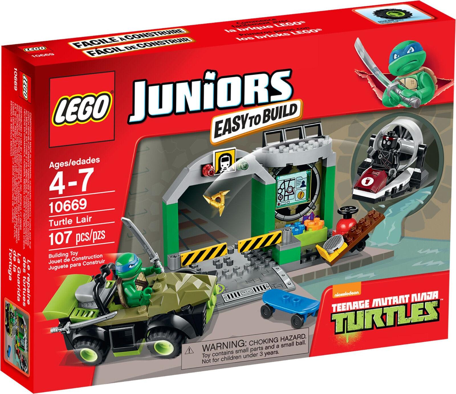 LEGO Juniors - 10669 10669 10669 Turtle Lair mit Leonardo - Neu & OVP 72e26c
