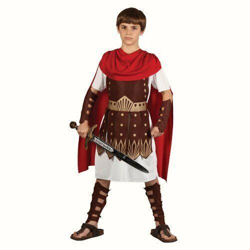 CENTURIONE Romano Gladiatore BOY Toga Costume Per Bambini Vestito