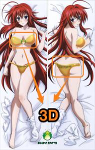 High School DD Rias Gremory HS034 3D butt /& breast Dakimakura body pillowcase