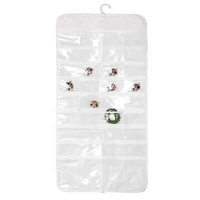 72 Pocket Hanging Jewellery Organiser Double Sided Storage Travel Bag Display