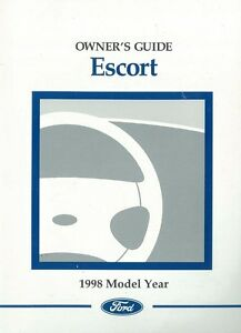 1998 ford escort owners manual user guide reference operator book rh ebay co uk ford user manual pdf ford user manual focus